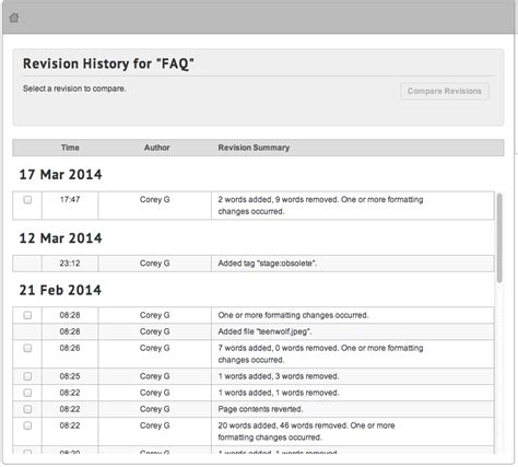 41 revision v1 view page revision history mt4 mindtouch success center