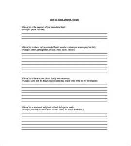 prayer list template 8 free word excel pdf format