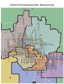 arizona senate district map five newly districts could alter arizona legislature