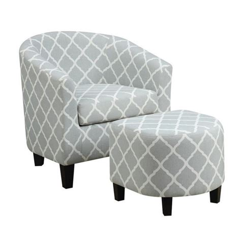 blue accent chair with ottoman pemberly row fabric accent chair with ottoman in light