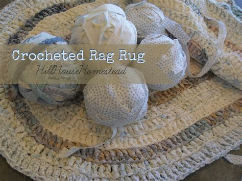 crochet a rag rug hill house homestead crocheted rag rug