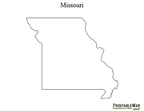 Missouri State Outline by 39 Best 50 States Templates Images On Printable Maps Map Quilt And Free Printable