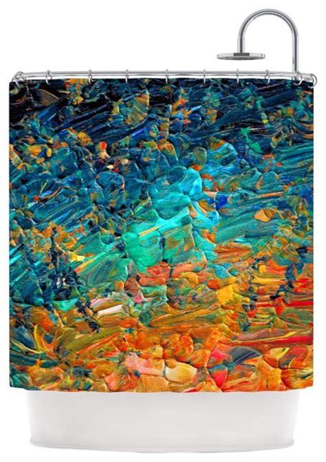 teal and orange shower curtain ebi emporium quot eternal tide ii quot teal orange shower curtain