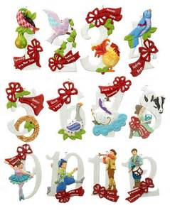 12 days of christmas set of 12 personalized ornament