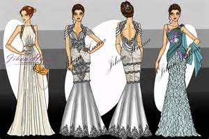 sketsa desain gaun malam jihanhusna spesialis rumah jahit desainer 085 749 480 646 call