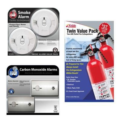 kidde value pack pro 1a10bc extinguisher with 9co5 co
