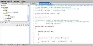 template class in java how do i decompile java classes in eclipse web
