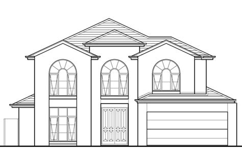 modern house coloring page house outline pictures house and home design