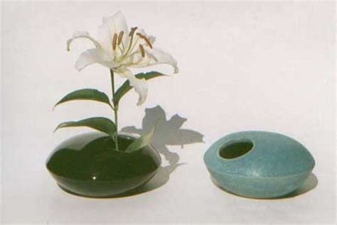 Flat Flower Vase by For The Table Sushi Set And Ikebana Vase