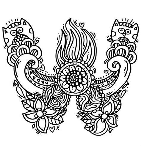 Alphabet Quot W Quot Doodle Art Elephant Bell Drawings