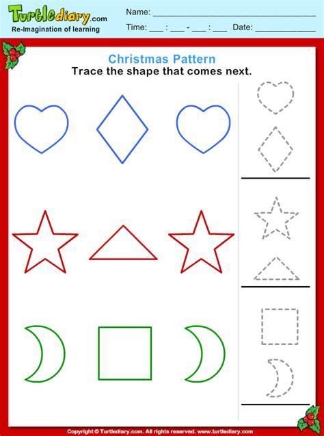 christmas pattern worksheets free worksheets 187 christmas pattern worksheet free math