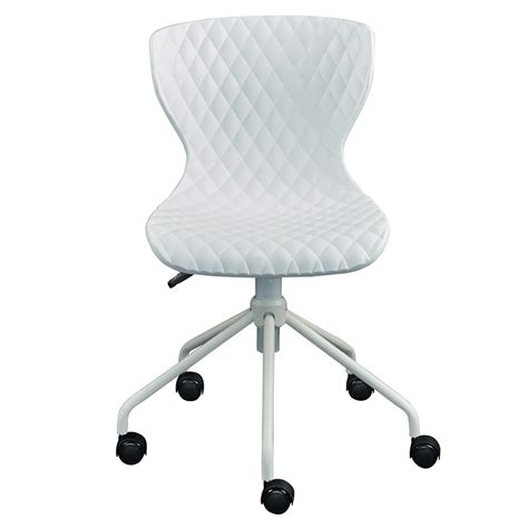 White Task Chair by Modern Office Chairs Daly White Task Chair Eurway
