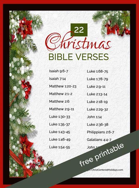 christmas bible verses  printable christ centered holidays