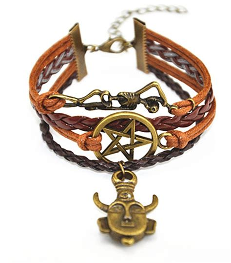 Handmade Charm Bracelet - handmade supernatural deans protection amulet