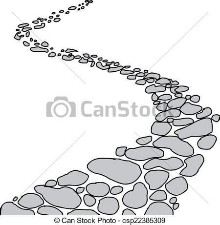 stock photo company 좁은 길 돌 고립된 고립된 우여 곡절 돌 좁은 길 위의 백색 배경 csp22385309