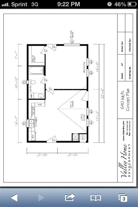 how to get floor plans of a house 20x32 small house floor plan house plans pinterest