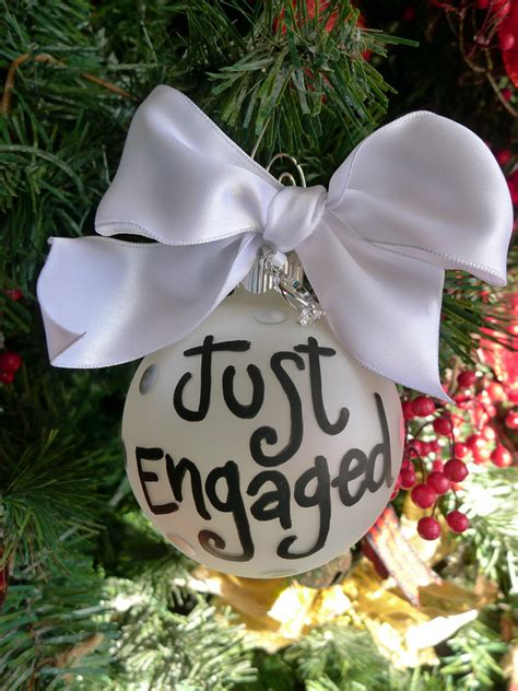 just engaged ornament engagement ring charm just engaged