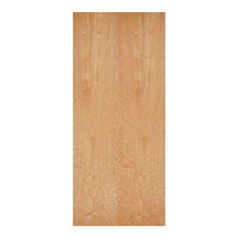 Home Depot Interior Wood Doors by Masonite 32 In X 80 In Smooth Flush Unfinished Hardwood