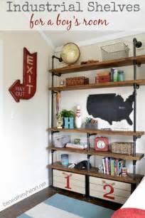 bookshelf for boys room industrial shelves in boys room design dazzle