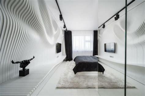 m3 arredamenti pomezia appartement design futuristite en noir et blanc