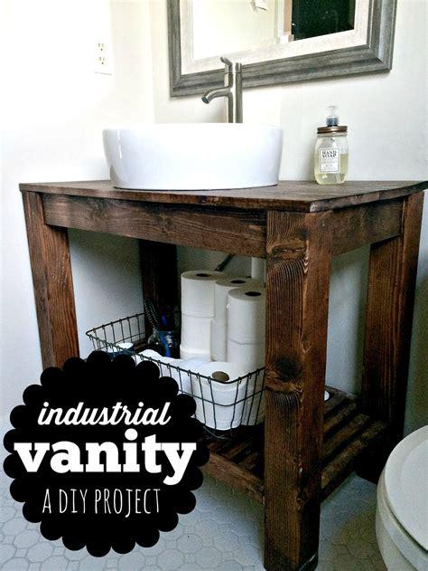 Industrial Style Bathroom Vanity Diy Industrial Farmhouse Bathroom Vanity Voigt