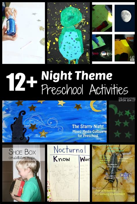 themes of book night nighttime preschool activities night owl painting and