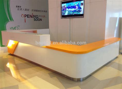 Solid Surface Stone Reception Counter Modern Shop Cash Counter Design   Buy Modern Cash Counter