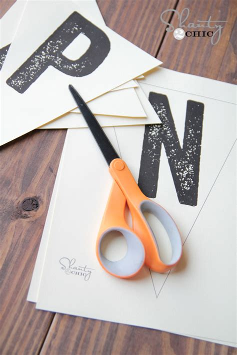 diy printable banner letters free printable letter banners shanty 2 chic