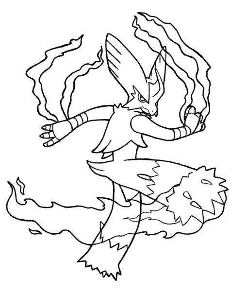 pokemon coloring pages mega blaziken 257 mega blaziken by realarpmbq on deviantart