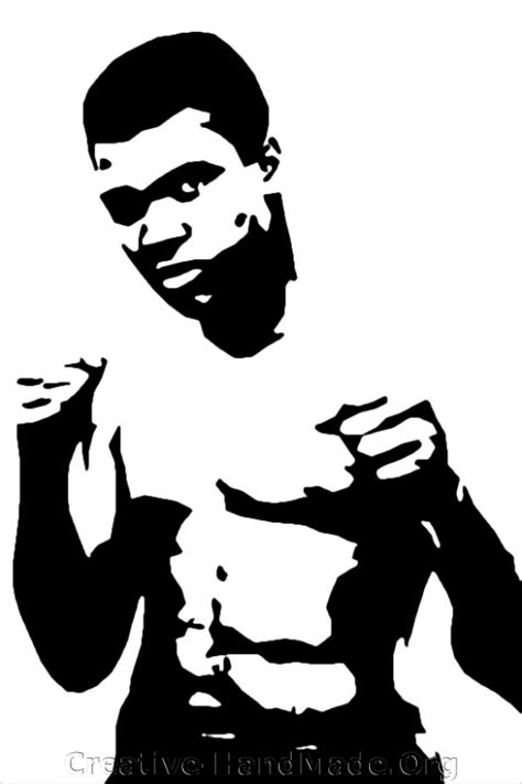 muhammad ali stencil www imgkid pin famous people stencils image search results on pinterest