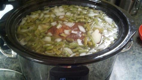 Cottage Ham - cottage ham potatoes grean beans in the crock pot 1