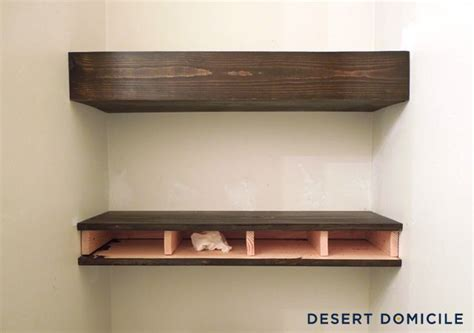 diy 15 chunky wooden floating shelves
