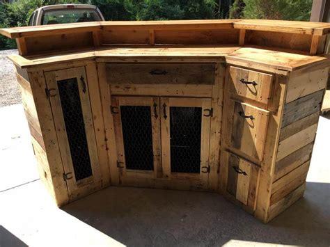 pallet bar top custom made wood pallet bar