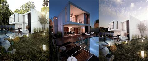 Free 3D Models   HOUSES   VILLAS   MODERN HOUSE WITH POOL