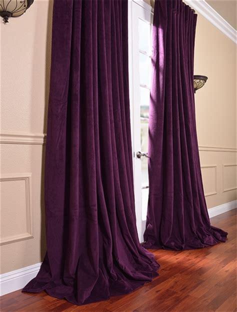 eggplant velvet curtains shop discount curtains drapes blackout curtains more