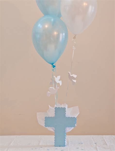 centerpieces for boy baptism baptism centerpieces boys communion decorations cross dove
