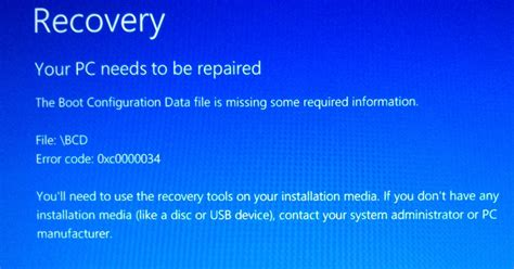 windows 8 เข าไม ได ข น recovery your pc needs to be repaired ว ธ แก ค อ