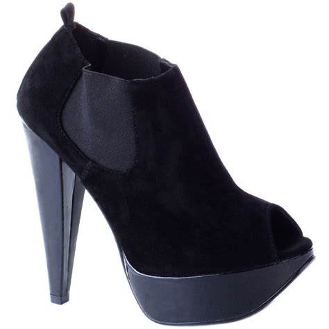 high heel shoes size 3 black high heel ankle boots size 3 8 ebay