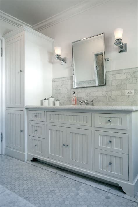 beadboard sink vanity transitional bathroom jwt