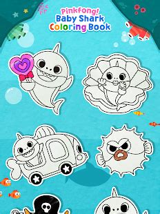 baby shark pinkfong mp3 pinkfong baby shark coloring book 187 android free app store