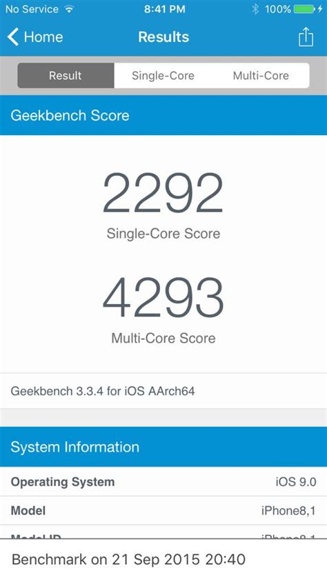 customer receives iphone 6s early benchmarks it and tweets results