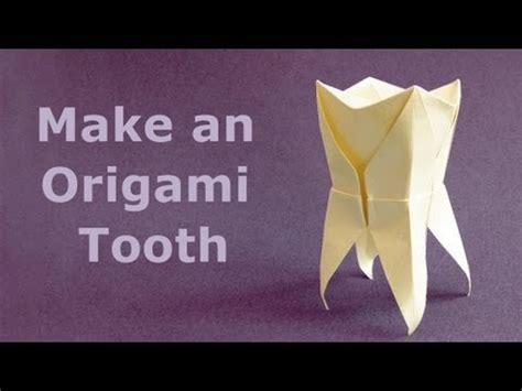 Origami Teeth - how to fold an origami tooth molar muela