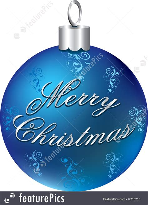 illustration  shiny blue christmas silver ornament