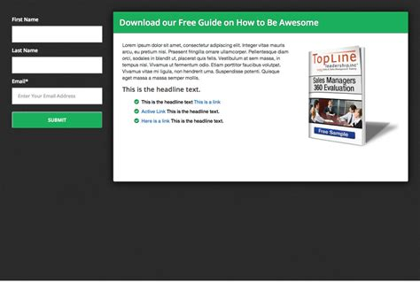 lead generation page template lead generation template inbound now marketplace