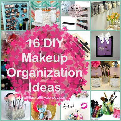 Diy Bedroom Decorating Ideas For Teens 16 diy makeup organization ideas a little craft in your day