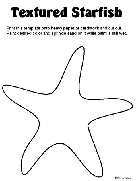 starfish template when it comes to crafting with your ones kid