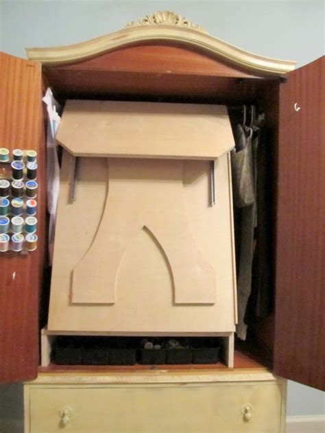 armoire sewing cabinet french armoire turned sewing cabinet storage projects