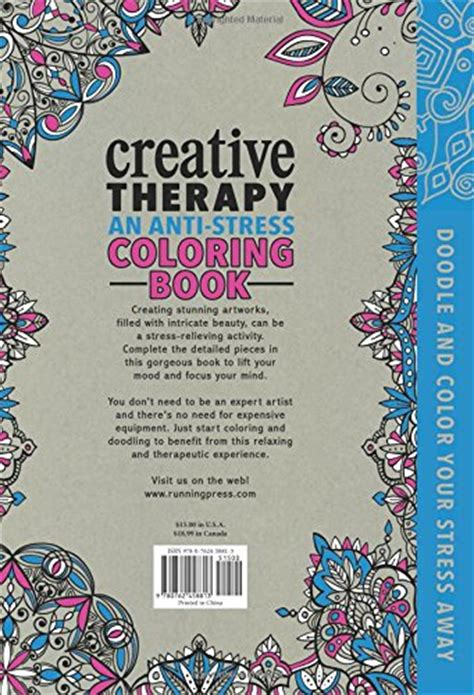 anti stress colouring book review creative therapy an anti stress coloring book hardcover