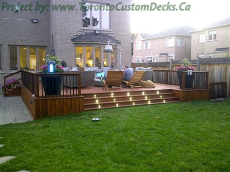 Cedar Patio Decks And Landscaping Design Toronto Custom Deck Patio Design Pictures