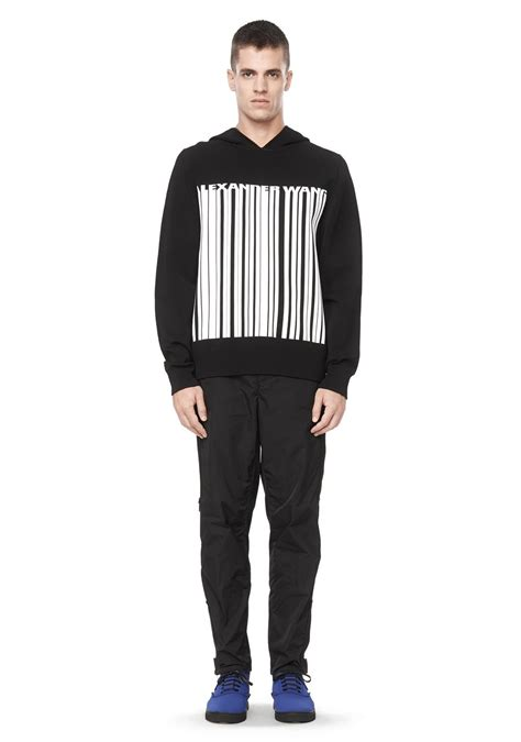 Bercode Sweater wang barcode logo hooded sweater top official site